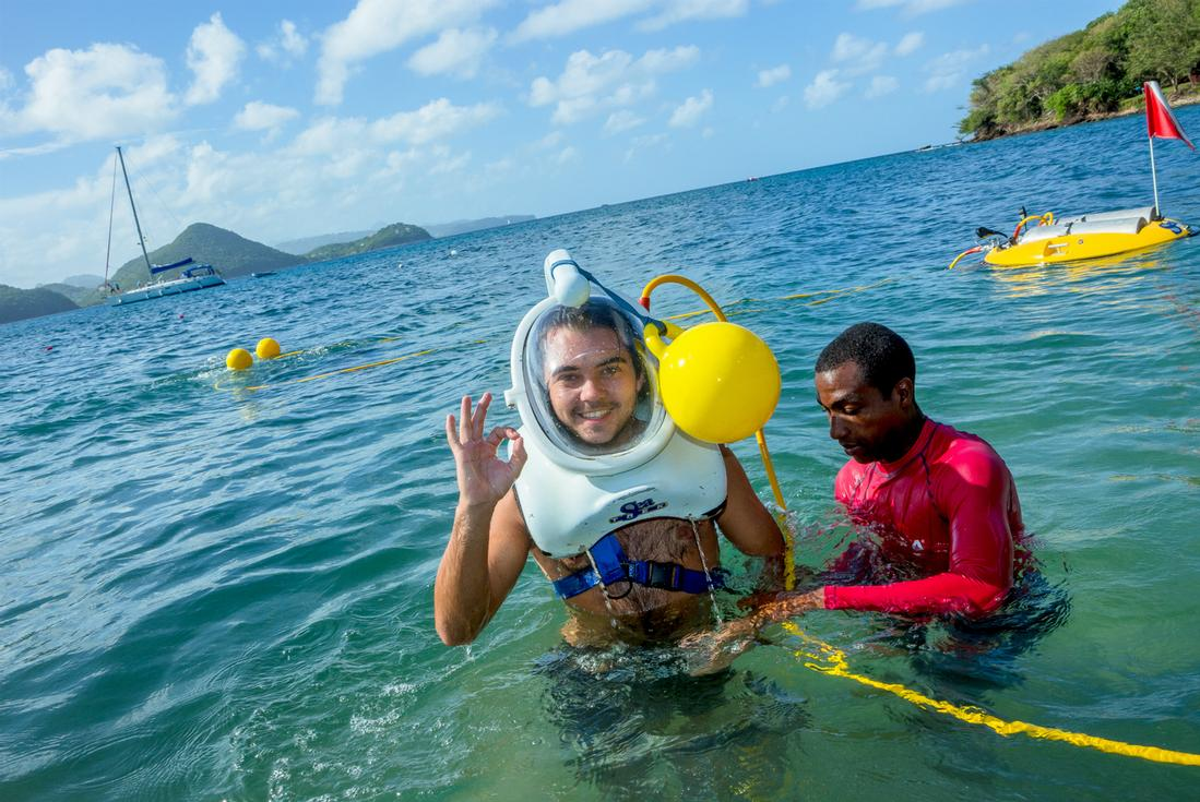 Sea trek St.lucia